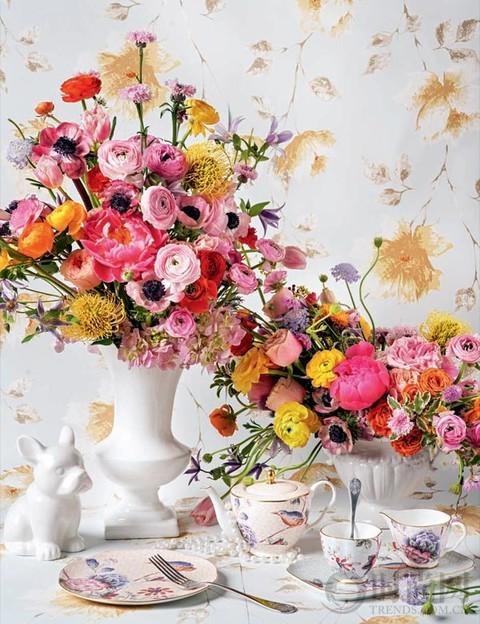 春之盎然 2018婚礼花艺流行色