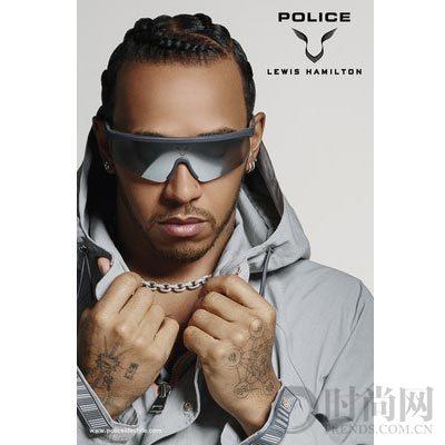 """时尚和引擎结合在一起:""""POLICE X LEWIS HAMILTON"""""""