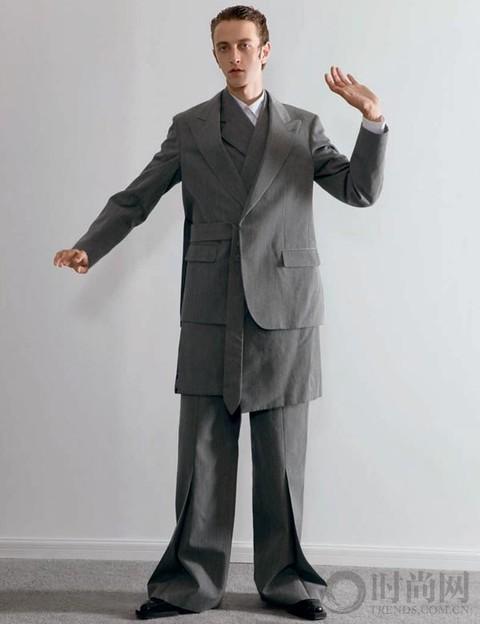 厚垫肩的大码西装怎么穿