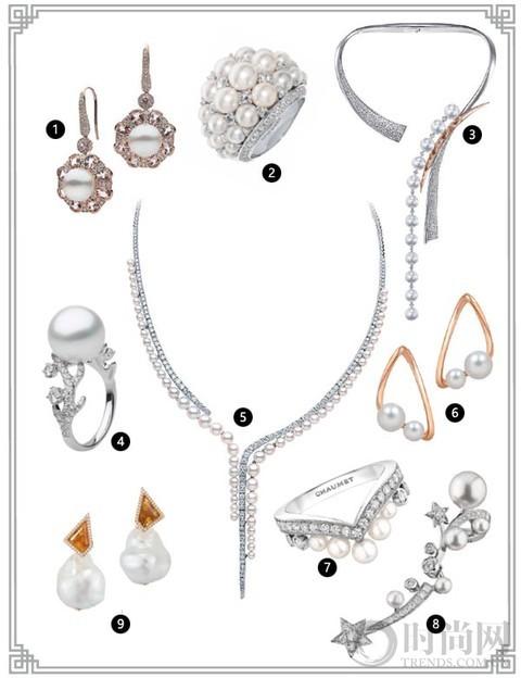 白色典雅、黄色奢华、黑色低调,珍珠饰品激发东方之美