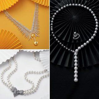 白色典雅、黃色奢華、黑色低調,珍珠飾品激發東方之美