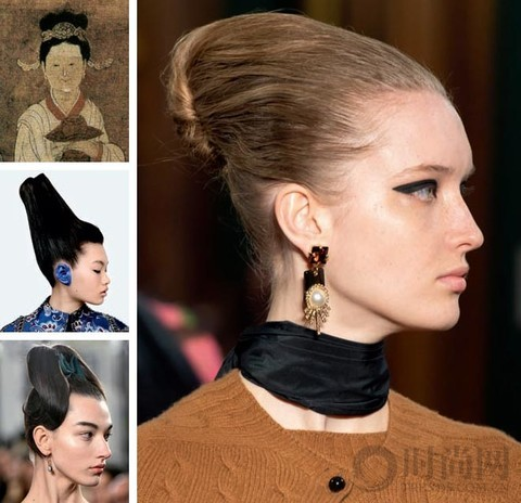 新中式 美人发