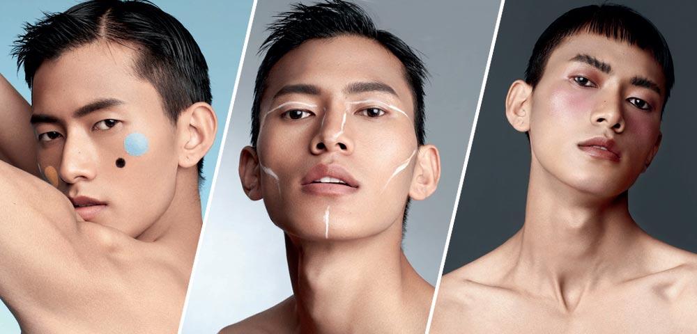 """化妆不再是女生的特权 型男""""秒变""""彩妆术"""