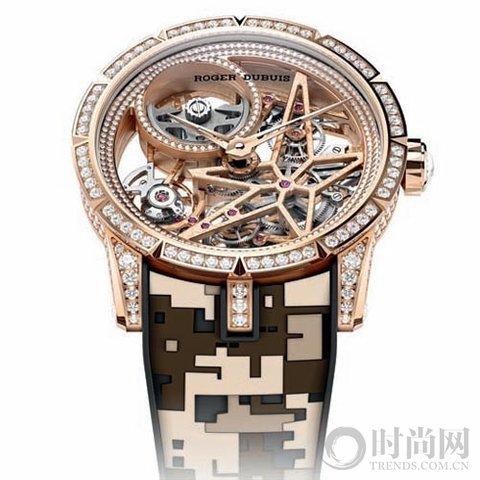 冬日里的金色腕表